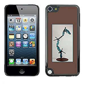 A-type Colorful Printed Hard Protective Back Case Cover Shell Skin for Apple iPod Touch 5 ( Statue Modern Art Abstract Boy Flying )