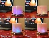 Hazantree LED USB Himalayan Salt Lamp with Wood Base Multi Color Changing (Cube)