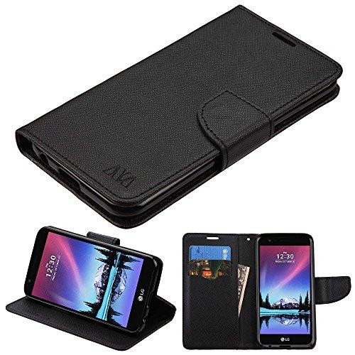 LG K20 Plus/V5 Case, Mybat Stand Folio Flip Leather [Card Slot] Wallet Flap Pouch Case Cover for LG K20 Plus/V5, Black