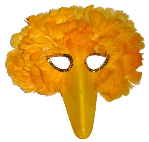 Mask It 48210 Feather Yellow Bird Mask