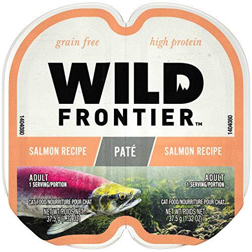 Nutro Wild Frontier High Protein Grain Free Pate Wet Cat Food, Salmon, 2.65 Oz. (24 Twin -