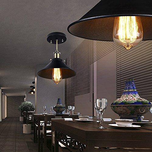 Smart & Green Lighting, Chic Industrial pendant lighting, Rustic ceiling Light,Upside down Martini Glass Shape, black