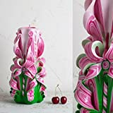 Make Your Own Carved Candles - Summer Handmade Gift - Pink and Green Amazing Home Decor - EveCandles
