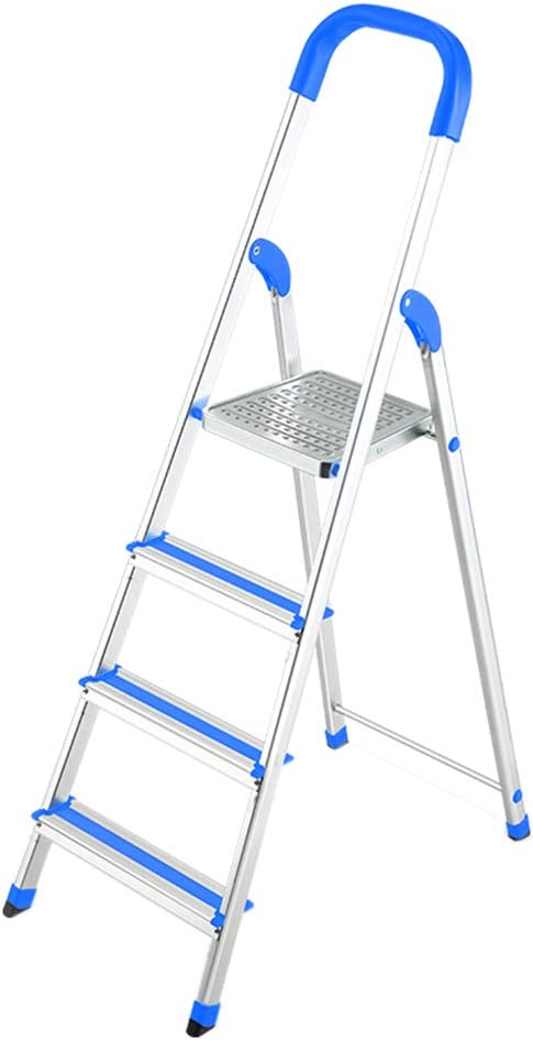 C-J-Xin Escalera portátil, Escalera Plegable al Aire Libre de la Escalera del Dormitorio de la Escalera del Metal de la Sala de Estar de la Escalera de Cuatro Pasos Escalera de casa: