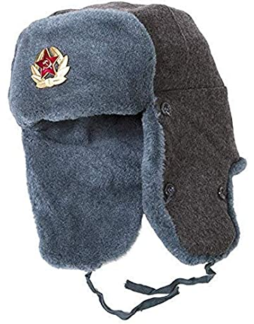 1e23dffc Ushanka-Hat Russian Army Ushanka Authentic Winter Hat Soviet USSR Army  Soldier Red Star WW2