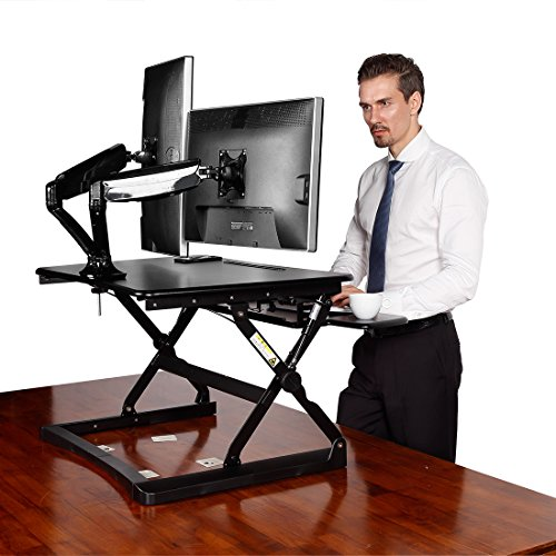 "Desktop Workstation Combo - 35"" Wide Platform Height Adjusta"