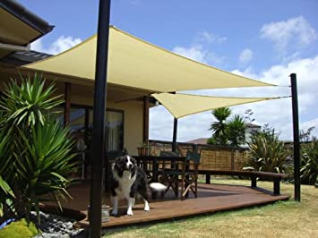 San Diego Shade Sail 20 x12 Rectangle Sandy Beach – Heavy Duty Commercial Grade 205gsm Shade Sail