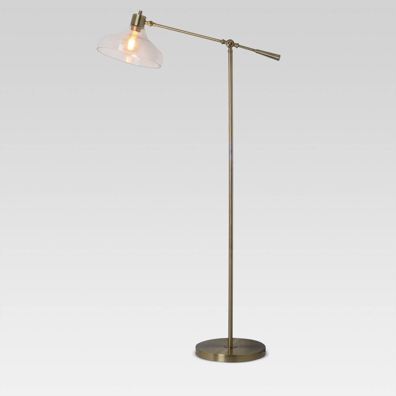 Amazon.com: Crosby tulipa de vidrio lámpara de pie plata ...