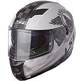 LS2 Helmets Stream Fan Full Face Motorcycle Helmet with Sunshield (Matte White, Small)