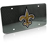 Nfl New Orleans Saints Carbon Custom Personalized Car Metal License Plate 12x6 Inch
