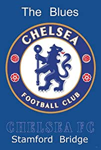 O-6879 Chelsea F.c. Logo Football , Soccer, Sport Collections,decorative Poster Print Vintage New Size: 24 X 35 Inch.