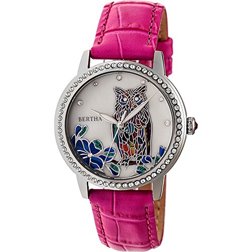 Amazon.com: Bertha Watches Madeline Mother-of-Pearl Womens Watch (Purple): Bertha: Watches