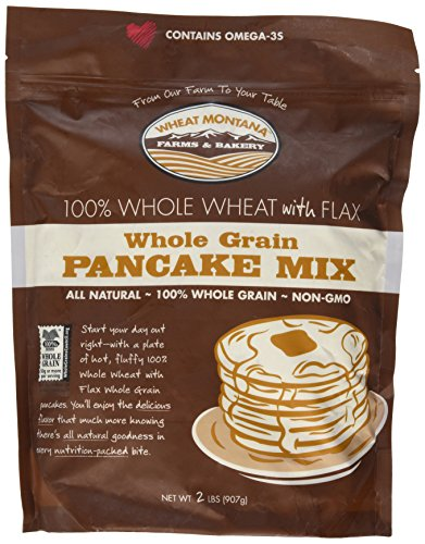 Whole Grain with Flax Pancake Mix Gmo-free! 2# (Grain Mix Pancake Whole)