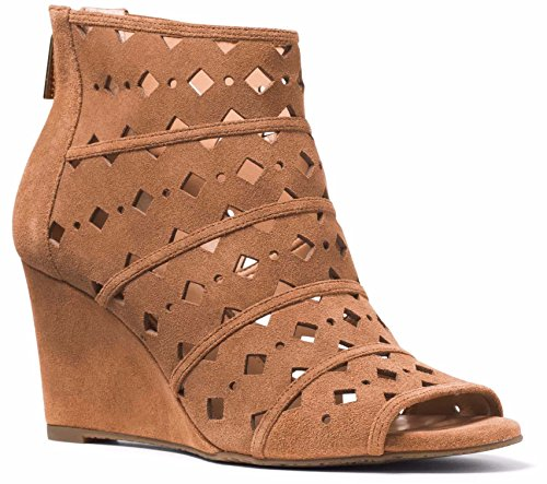 MICHAEL Michael Kors Womens Uma Peep Toe Casual Platform, Acorn, Size 8.0