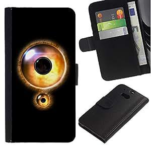 All Phone Most Case / Oferta Especial Cáscara Funda de cuero Monedero Cubierta de proteccion Caso / Wallet Case for HTC One M8 // Eye Lock