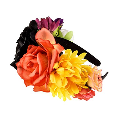 Apparel Accessories Newest Elegant Peony Flower Wreath Yellow Color Wedding Party Floral Garlands Crown Halo Kids Party Headband Corsage Wreath Rapid Heat Dissipation
