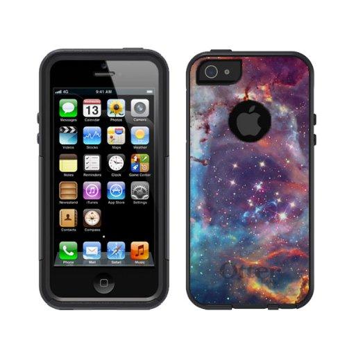 iPhone 5 5S Black Otterbox Commuter Nebula Galaxy Star