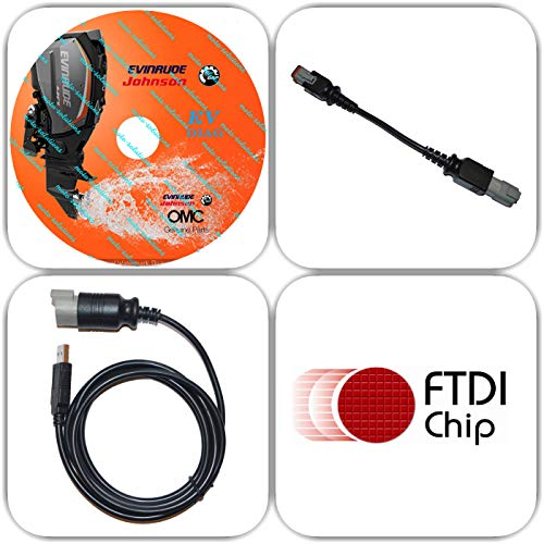 Moto-Solution USB Diagnostic Tool Scanner KIT with Bootstrap for EVINRUDE  Outboard Engine E-TEC/Fitch