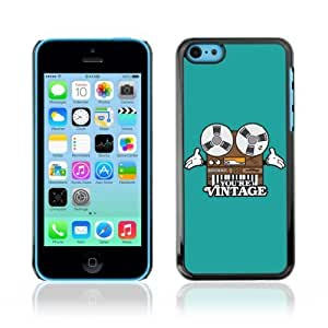 MMZ DIY PHONE CASEYOYOSHOP [Funny Vintage Tape Deck Illustration] Apple ipod touch 4 Case