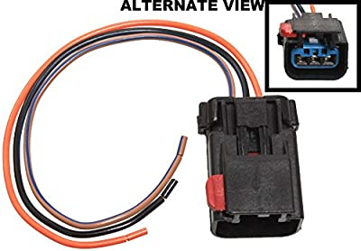APDTY 756298 Wiring Harness Pigtail Connector 3-Wire Direct Fit Cam Crank Sensor Power Window High Low Horn Wiper HVAC AC Heat Auto Temp Control Power Mirror Compass Hybrid Turn Signal Park Lamp