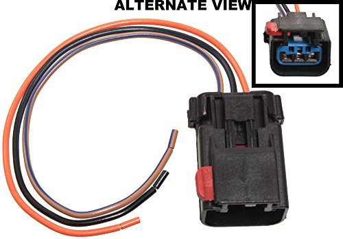 Price comparison product image APDTY 756298 Wiring Harness Pigtail Connector 3-Wire Direct Fit Cam Crank Sensor Power Window High Low Horn Wiper HVAC AC Heat Auto Temp Control Power Mirror Compass Hybrid Turn Signal Park Lamp