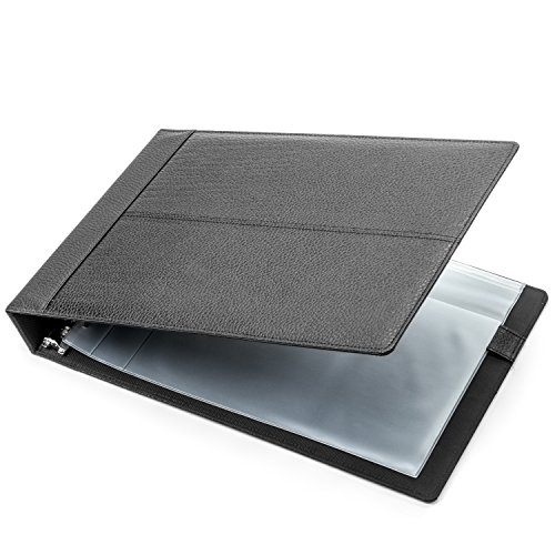 7-Ring 3-on-a-Page Business Check Book Binder Black