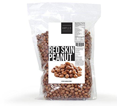 Hayllo Raw Redskin Peanuts, 5 Pound (Peanuts Raw Shelled)