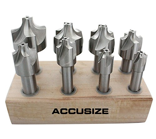 Corner Rounding Cutter (Accusize - HSS Corner Rounding End Mill Set Size from 1/16'' to 3/8'', 8 Pcs/Set, #1011-0008)