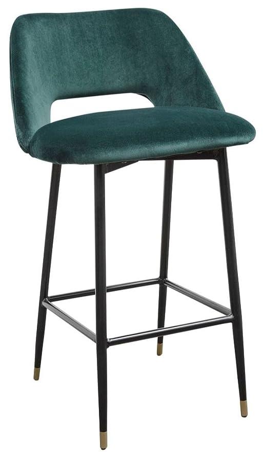 Casa-Padrino Silla de Bar de Lujo Verde/Negro 55 x 58 x H ...