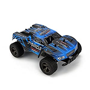 FLYZOE Remote Control Car 2.4GHz 1:18 Scale High Speed Wireless Vehicle Off Road Racing Truck (Blue)