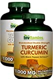 TNVitamins Turmeric Curcumin 1000 Mg with Black Pepper (2 x 90 Capsules)
