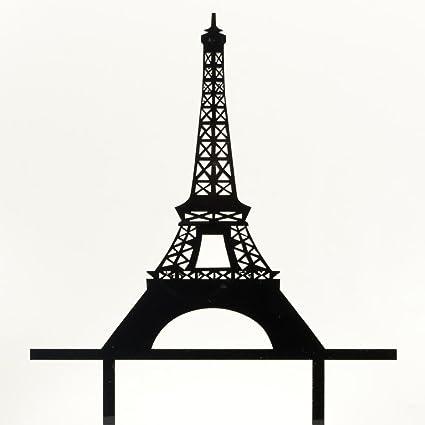 Superb Romantic Paris Eiffel Tower Cake Topper Wedding Birthday Acrylic Funny Birthday Cards Online Aeocydamsfinfo