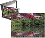 PHOTO JIGSAW PUZZLE. Photo Puzzle (252 Pieces). Artwork depicting Azaleas in bloom reflected in still water. Shipping from USA.