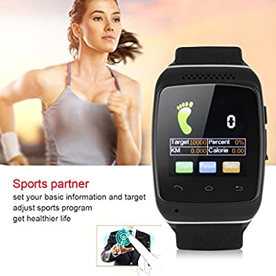 Excelvan® Bluetooth Smart Wristwatch Sport Bracelet Sync Call SMS Music Weather Reminder Anti-lost for Android IOS Smartphone Iphone Samsung HTC LG