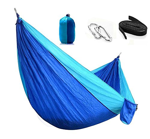 Cheap  Miustyle Camping Backpacking Double Nylon Hammock With Hanging Straps&Carabiners, Lightweight Portable For..