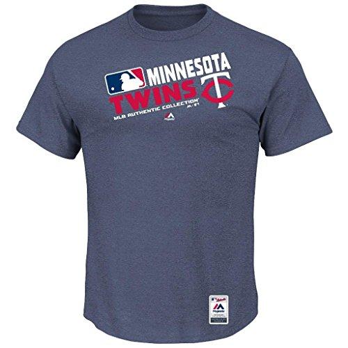 MLB Men's Authentic Collection Team Choice T-Shirt (Small, Minnesota (Minnesota Twins Player)