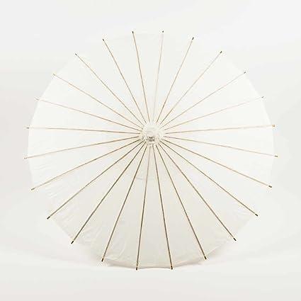 485b1e989e Quasimoon PaperLanternStore.com 38 Inch White Paper Parasol Umbrella