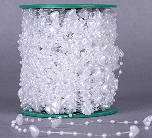 Amazon.com: White Pearl Beaded Spool for Wedding Party ...