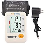 "LotFancy Blood Pressure Monitor with Adapter- Automatic Digital BP Machine Upper Arm Cuff -Irregular Heartbeat Detector- Accurate & Portable for Home Use, 4 User Mode, FDA Approved (L Cuff 11.8-16"")"