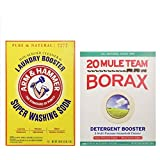 Mule Team Borax 65oz and Arm & Hammer Super Washing Soda 55oz. Variety Pack