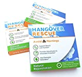 Hangover Rescue Pills – A Vital Part of Your Morning Hangover Cure & Prevention Kit – All Natural, Safe, Healthy & Effective Remedy – Restores Electrolytes, Vitamins & Minerals – 3 Pack – 6 Servings Review