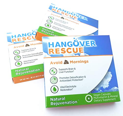 Hangover Rescue Pills Prevention Electrolytes product image
