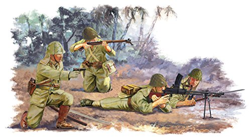 Dragon Models IJA Infantry Peleliu 1944 Action Figure Playset, 1:35 Scale, 4-Piece