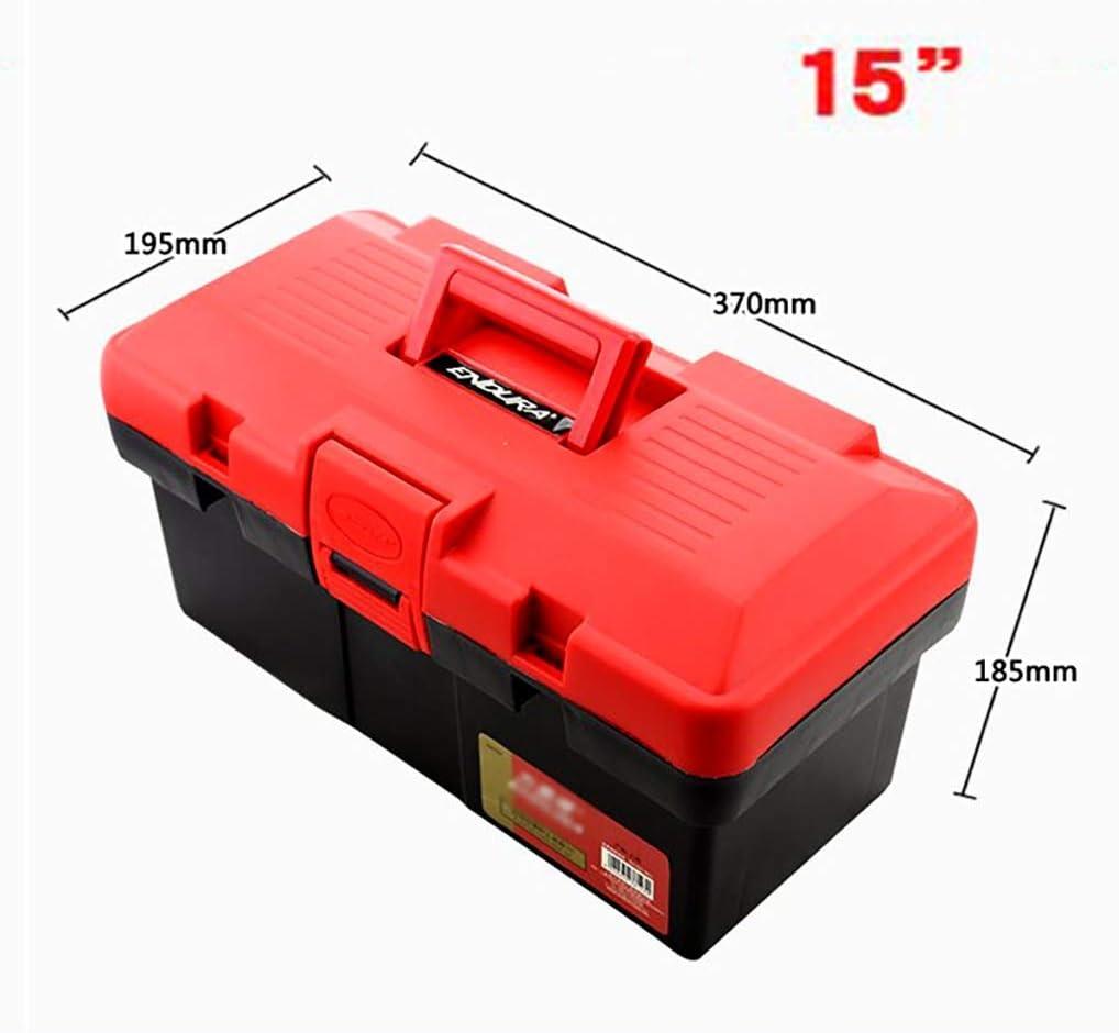 ZSHLZG Caja de Herramientas de plástico Doble Capa Plegable Espesar Electricista Art Modelo Caja de Almacenamiento 15/17/19 Pulgadas (Tamaño : 45cm*24.5cm*21cm): Amazon.es: Hogar