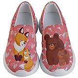 PattyCandy Unisex Kids Lightweight Sneaker Animal Love Design Slip On-US 11C