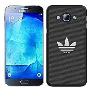 Hot Sale Samsung Galaxy A8 Case ,Unique And Durable Designed Case With White Adidas Logo With Stripe Background black Samsung Galaxy A8 Cover Phone Case