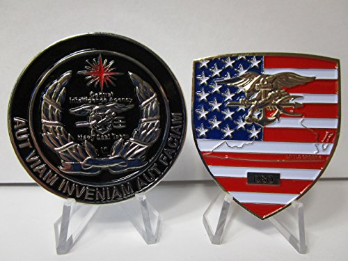 Set of Two Seal Teams Navy-Special-Warfare-Seal-Team-Two-Little-Creek & CIA Special Operations Division SAD Navy Seal Team (Seal Coin Set)