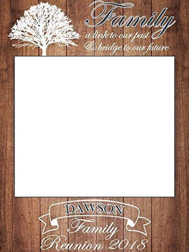 (Wood Frame Prop Design, Reunion Party, Family Reunion Party, Family Reunion Photo Booth, Size 24x36, 48x36; Photo Booth Frame Prop, Family Reunion, Handmade DIY Party Supply Photo Booth Props)