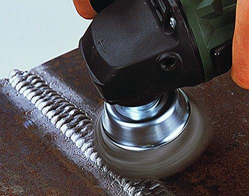 65 mm Trenzado Wolfcraft 2700000 2700000-1 Cepillo de Plato para Metales Rosca M 14 diam 65mm