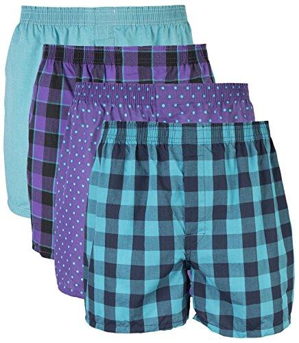 2 Pack Tartan Plaid Boxer - Gildan Men's Woven Boxer Underwear Multipack, Mixed Purple, XX-Large